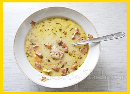 как приготовить сырный суп из плавленного сырка