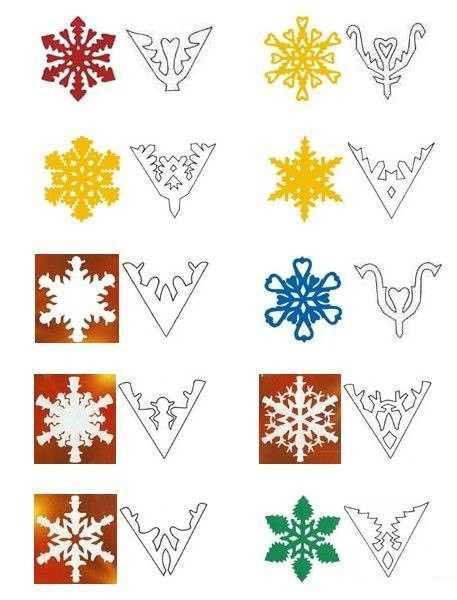 Как вырезать красивую снежинку из бумаги пошагово Как вырезать снежинки из бумаги? Поэтапные схемы