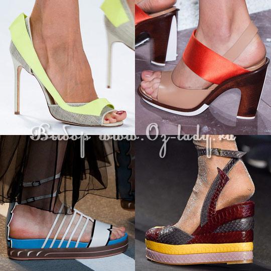 20c8bb376 Женская обувь весна лето 2015: модные тенденции